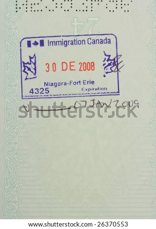 canadian stamp - stock photo
