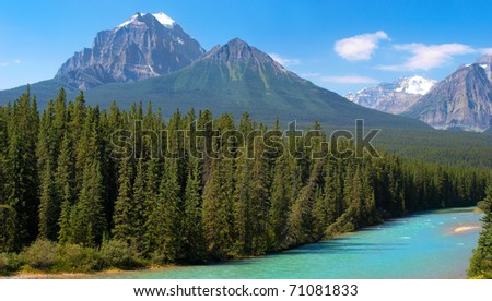 Canadian Wilderness in Banff National Park, Alberta, Canada - stock photo
