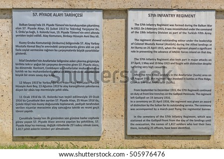 Canakkale, Turkey - August 4, 2016 : 57th Regiment martyrdom was built in the memory of 57th Regiment giving thousands of martyrs and injured in the Canakkale War.