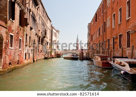 Canal and bridge in Venice, Italy