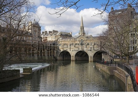 Canals in Bath, England - stock photo