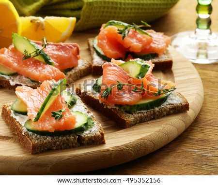 Stock images royalty free images vectors shutterstock for Canape sandwich