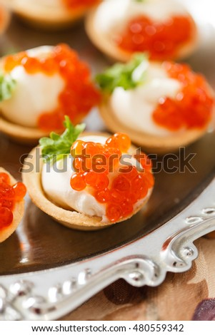 Canape caviar stock photo 275247182 shutterstock for Canape with caviar