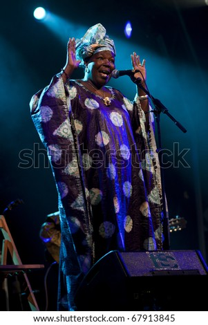 CANARY ISLANDS - NOVEMBER 12: Bako Dagnon from Mali performs onstage during Womad in Las Palmas November 12, 2010 in Canary Islands, Spain - stock photo