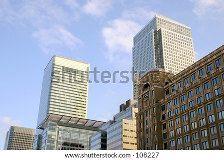 Canary Wharf Financial Centre - stock photo
