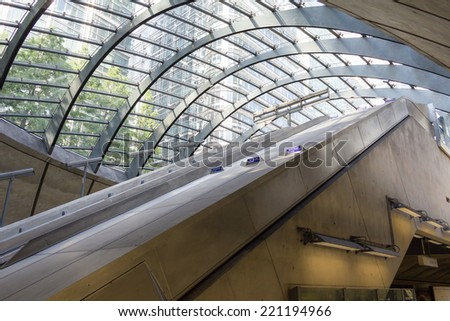 Canary Wharf tube station, London, England - stock photo