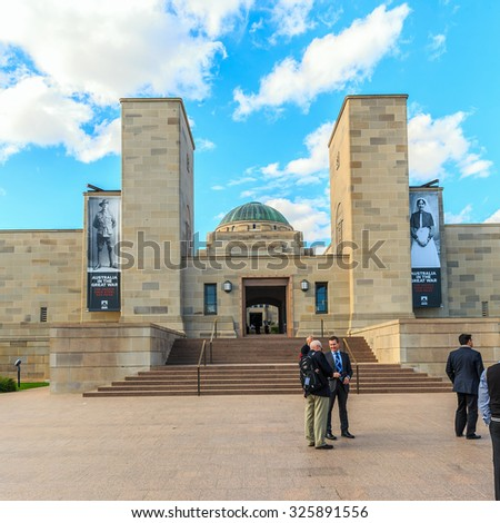 CANBERRA, AUSTRALIA - MAR 25: The Australian War Memorial on Mar 25, 2015 in Canberra. It's Australia's national memorial to the members of its armed forces who have died in the wars. - stock photo