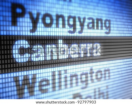 Canberra. World capitals Full collection of icons like that is in my portfolio - stock photo