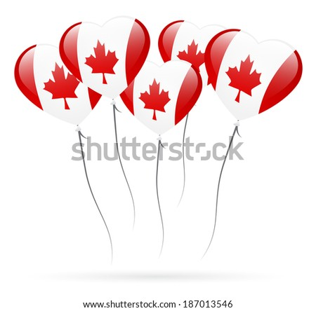 candian inflatable balloons - stock photo