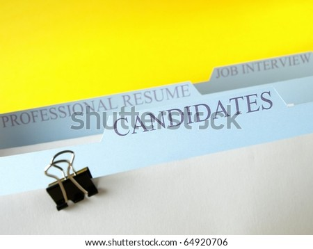 Candidates for jobs - stock photo