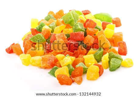 candied peel texture - stock photo