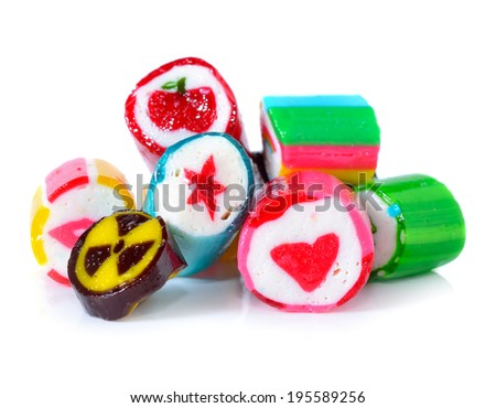 candies on a white background - stock photo