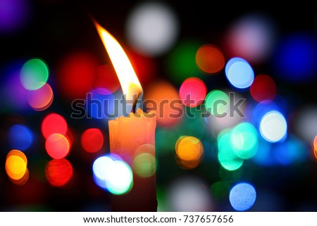 candle and bokah light & Christmas Candle Light Service Stock Images Royalty-Free Images ... azcodes.com