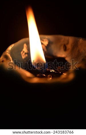 Candle flame - stock photo