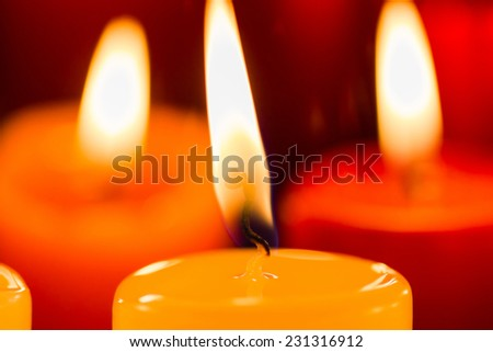 Candle Light Times - stock photo