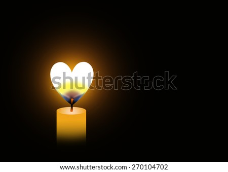 Candle love - stock photo