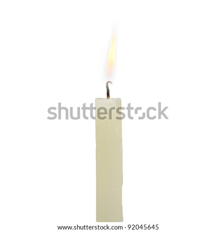 candle on a white background - stock photo