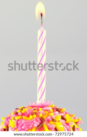 candle on birthday cake