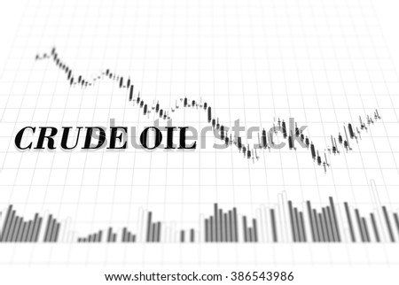 Candle stick graph chart of crude oil price stock exchange trading - stock photo