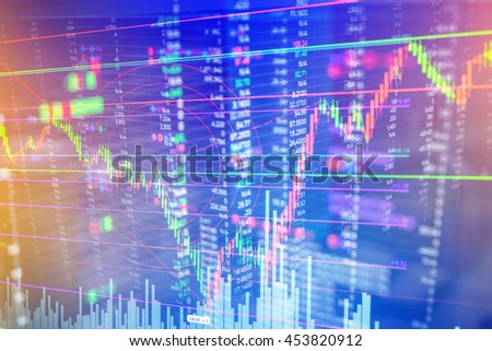 Candle stick graph chart of stock market investment trading business finance concept and background - stock photo