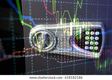 Candle stick graph chart of stock market investment trading. Trading&analysis of Forex graph, Forex trading, Forex market, and Forex education. This is a digital information represent via chart