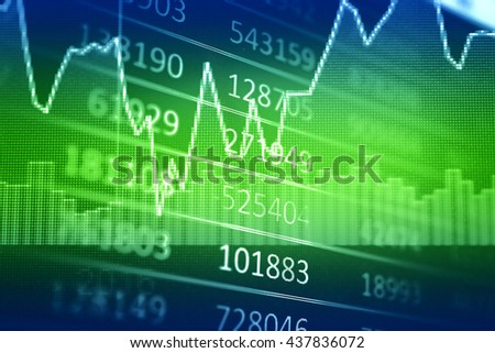 Candle stick graph chart of stock market investment trading, Which including of Bullish point and Bearish point. also represent a trend of graph. - stock photo