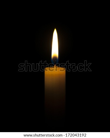 Candle wax isolated on a black background - stock photo
