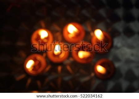 Candlelight Background glass
