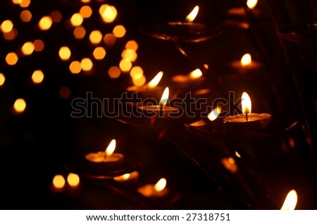 Candles in a church - stock photo