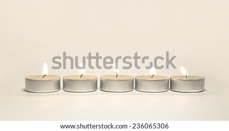 Candles isolated on white background  - stock photo