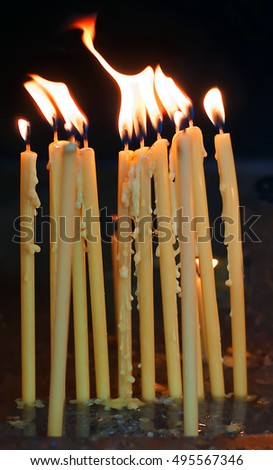 Candles on all souls' day