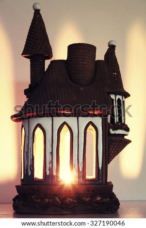 Candlestick house isolated - stock photo
