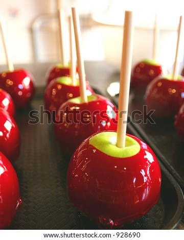 candy apple - stock photo
