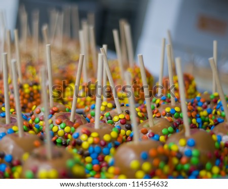 Candy Apples - stock photo