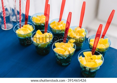 Candy bar bottle with tubes - stock photo