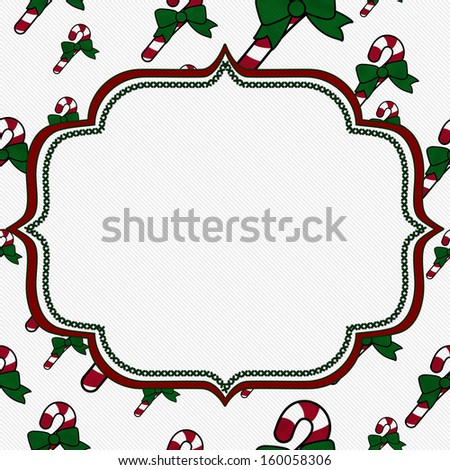 Candy Cane Christmas Background with center copy-space, Christmas Time Background - stock photo