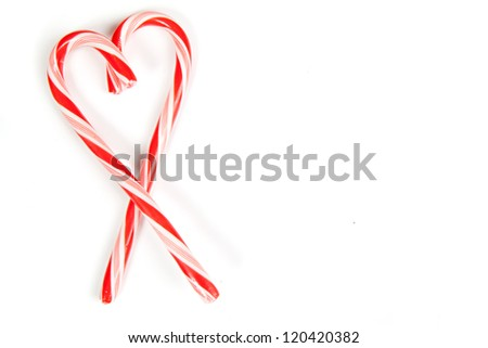 Candy Canes combined to form a heart.  Extra room for your text.