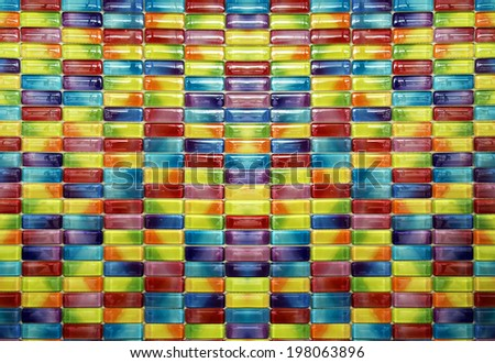 candy capsule color mosaic Tiles - stock photo