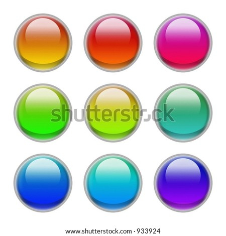 candy colored glassy orbs on transparent GIF