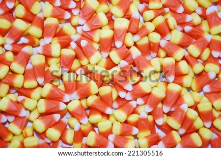 Candy corn background - stock photo
