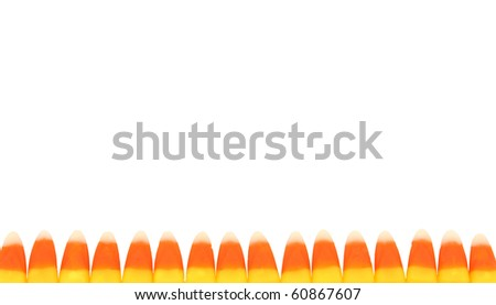 Candy Corn Candies Creating Boarder - stock photo