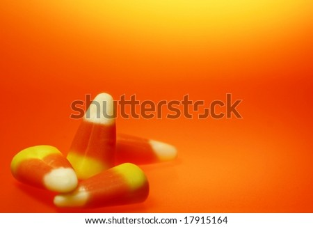 candy corn macro - stock photo