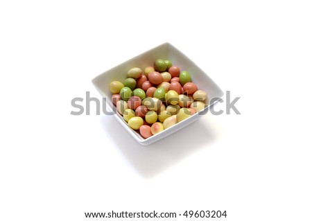 Candy eggs - stock photo