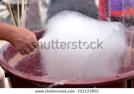 Candy floss machine - stock photo