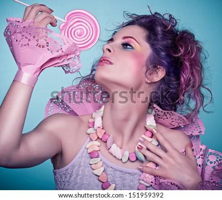 candy girl / seduction - stock photo
