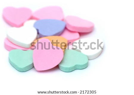 Candy Hearts - stock photo