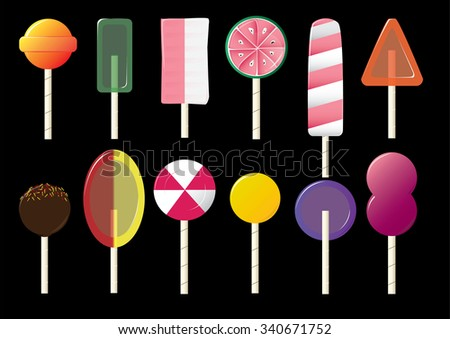 Candy lolly pops - stock photo