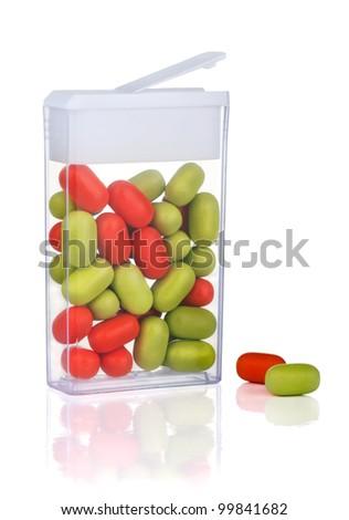 Candy mints breath freshener isolated on white - stock photo