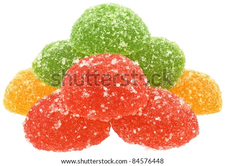 Candy on a white background.