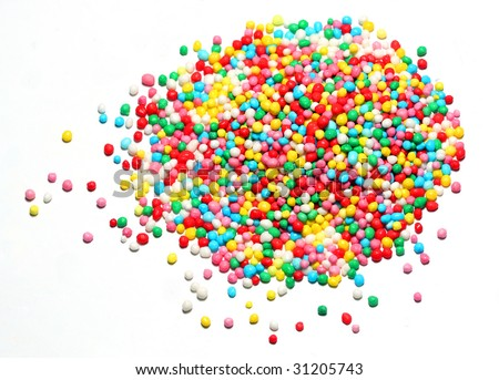 Candy on white background - stock photo